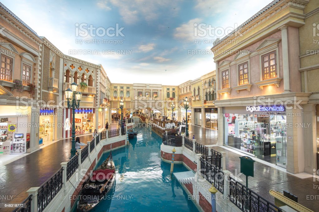 Venetian hotel is a luxury hotel and casino resort in Macau owned by the American Las Vegas Sands company. stock photo