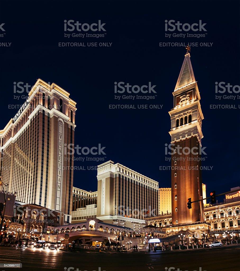 Venetian Hotel stock photo