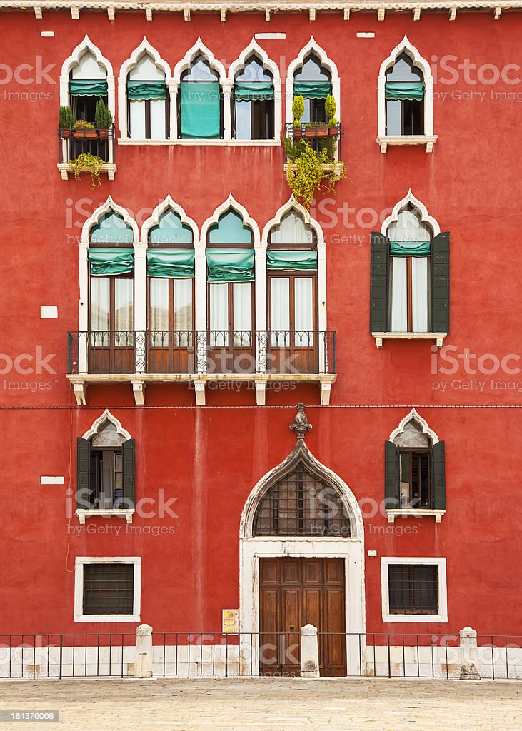 Venetian House / Facade in Venice royalty-free stock photo
