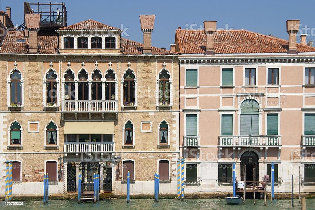 Venetian houses in Sestiere San Marco royalty-free stock photo