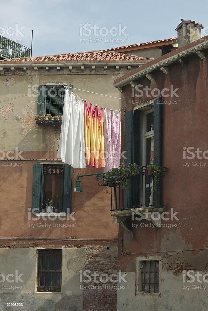 Venetian houses royalty-free stock photo