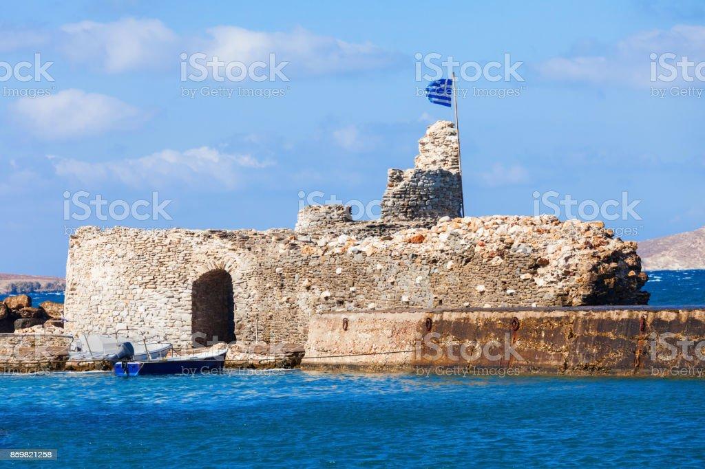 Venetian Kastro in Naoussa stock photo