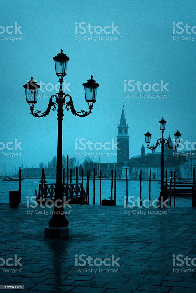 venetian lamposts royalty-free stock photo