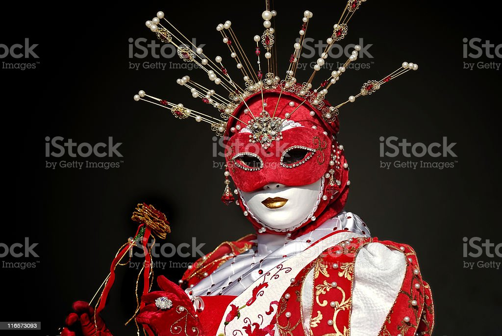 venetian mask and costume royalty-free stock photo