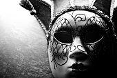 Venetian mask exposed, toned image