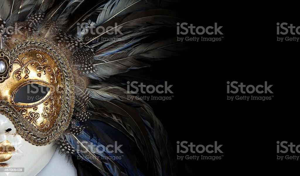 Venetian mask stock photo