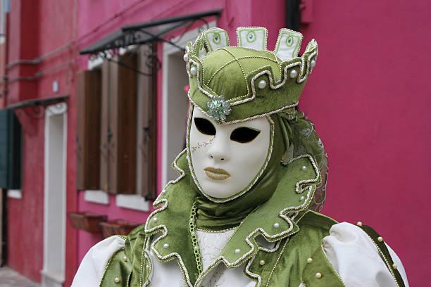 venezianische mask - rosa camo party stock-fotos und bilder