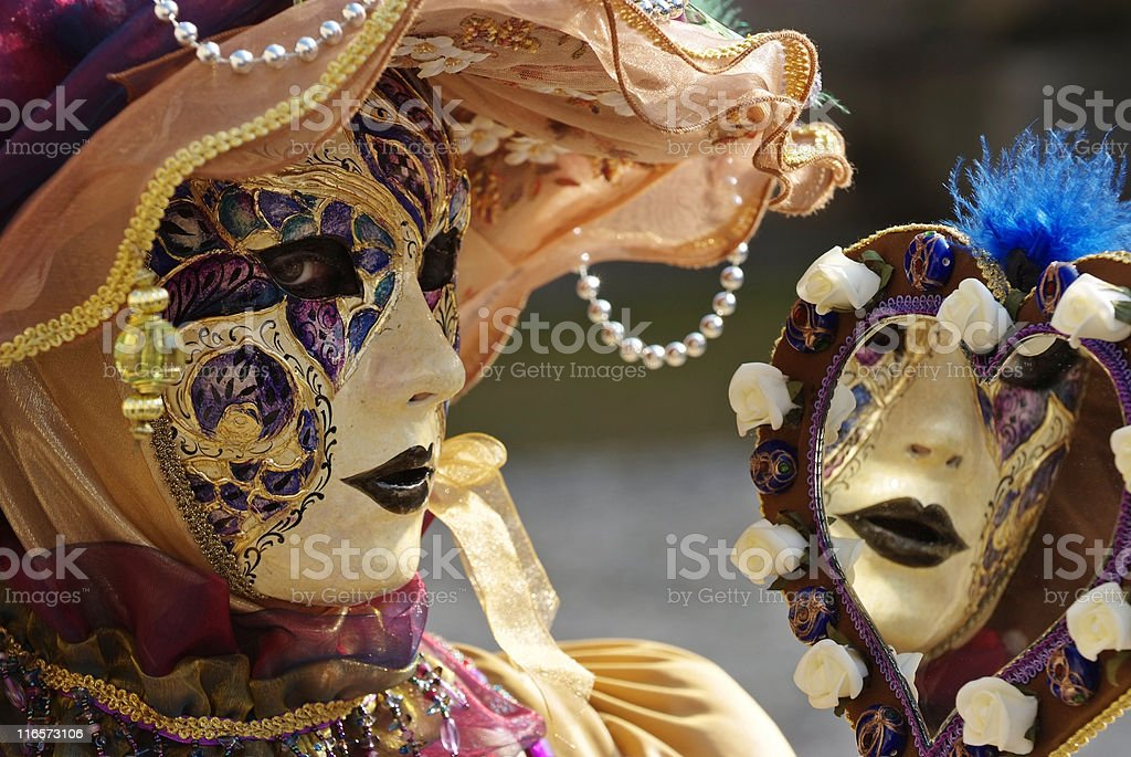venetian mask with mirror royalty-free stock photo