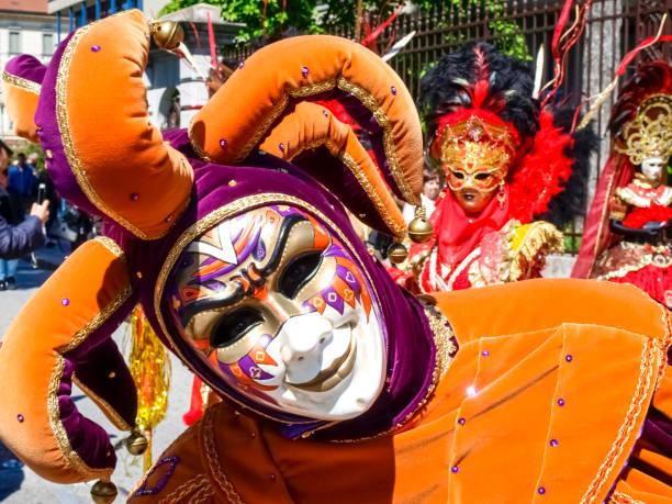 Venezianische Masken ausgestellt in Lugano – Foto