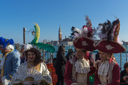 Venetian Masks In Riva Degli Schiavoni Venice Italy Stock Photo - Download Image Now