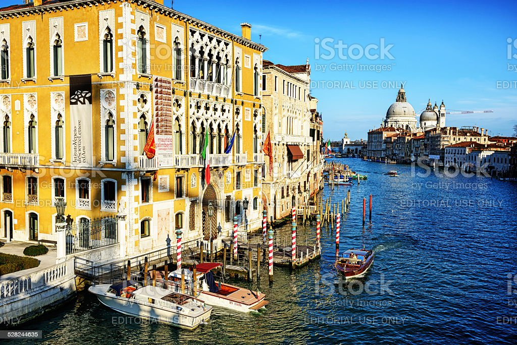 Venetian Palaces on Grand Canal, Venice stock photo