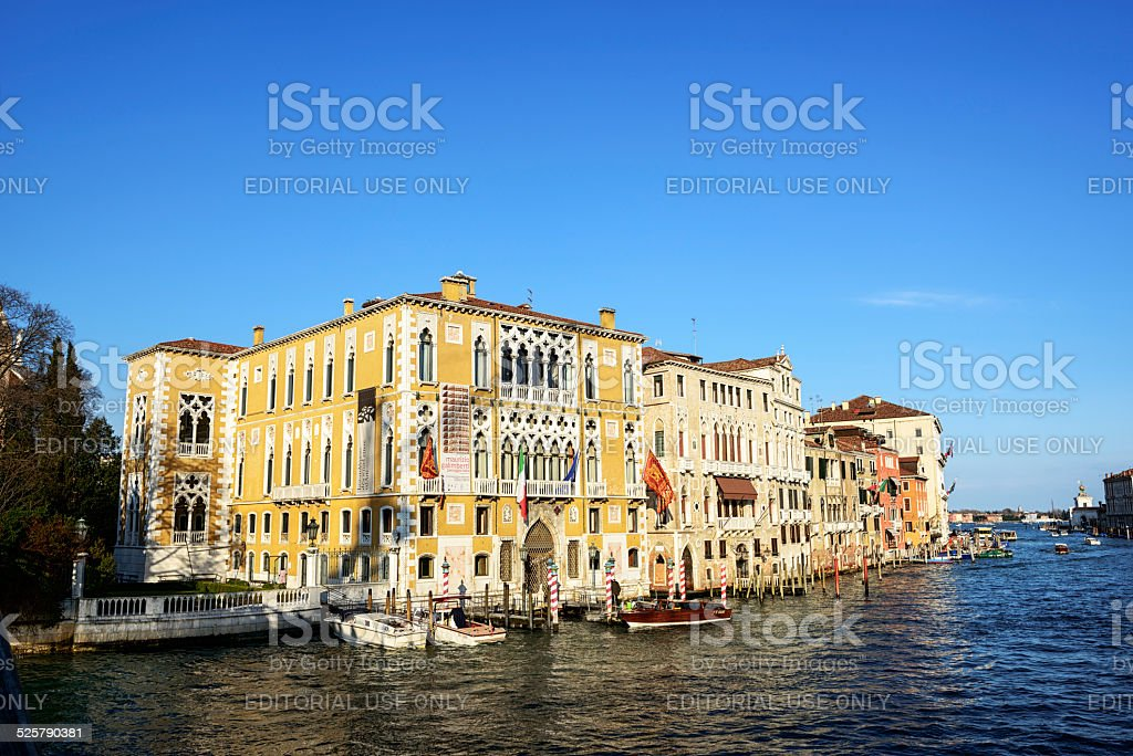 Venetian Palaces on the Grand Canal stock photo