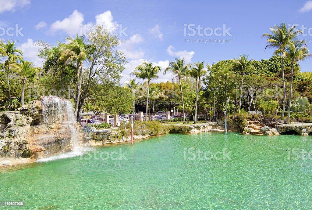 Venetian Pool in Coral Gables, FL stock photo