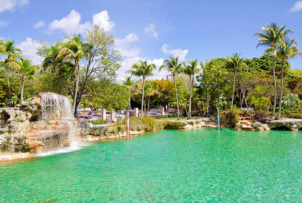 Venetian Pool in Coral Gables, FL stock photo