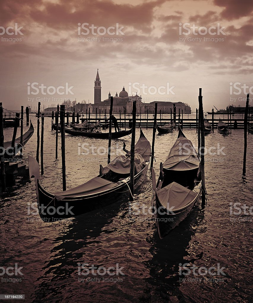 venetian scene royalty-free stock photo