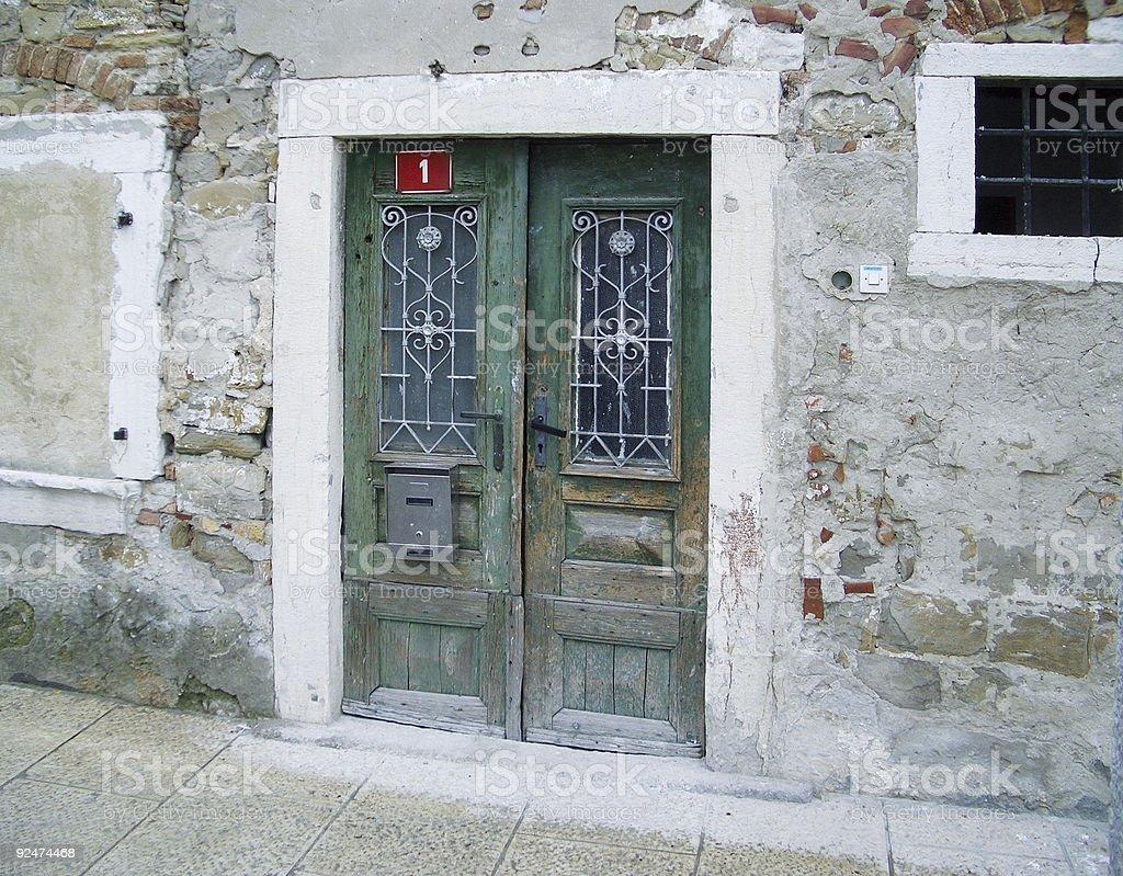venetian style front door royalty-free stock photo