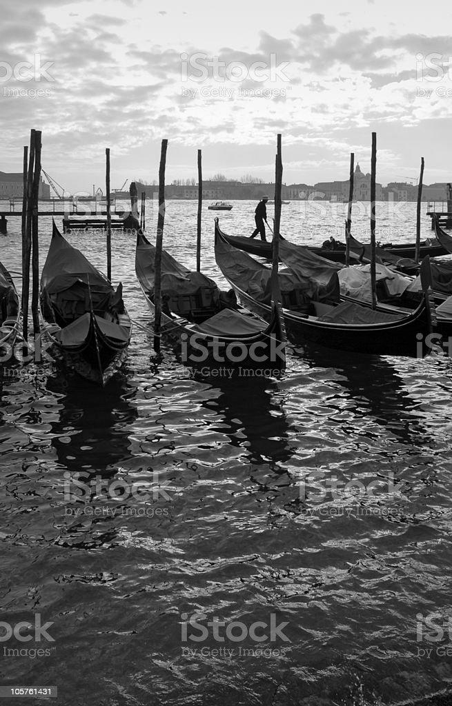 Venetian sunset royalty-free stock photo