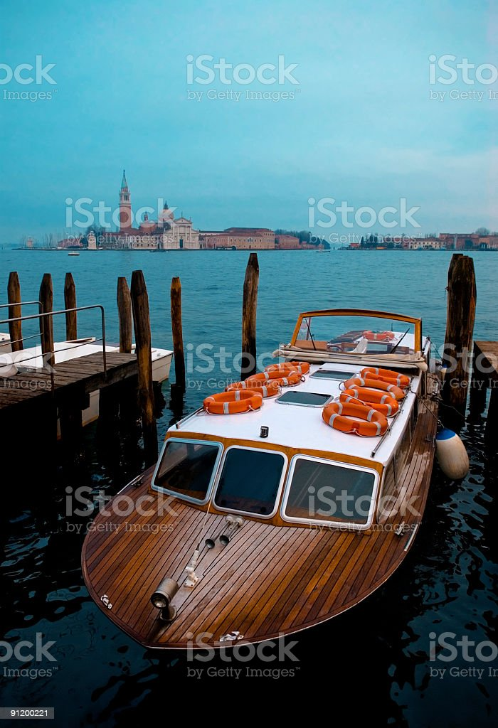 venetian taxi royalty-free stock photo