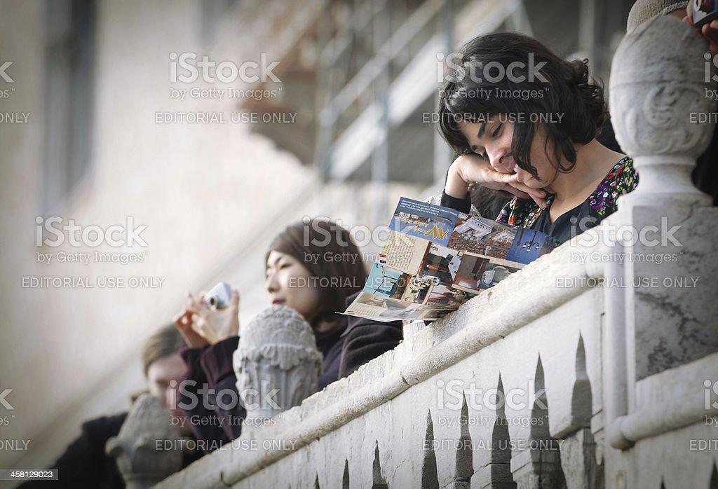 Venetian tourism stock photo