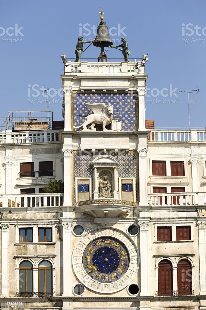 venetian tower clock royalty-free stock photo