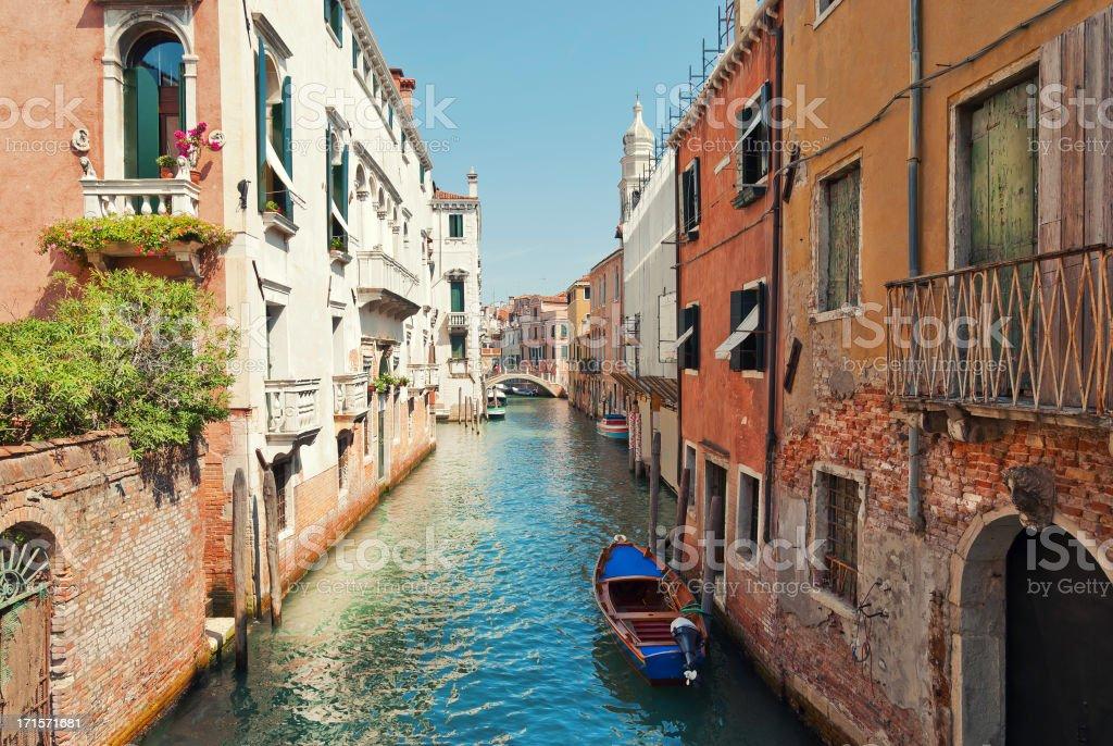 Venetian Water Alley royalty-free stock photo