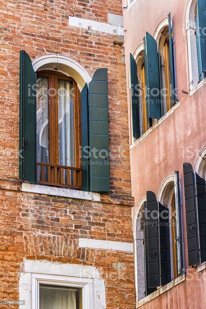 Venetian Windows. Italy royalty-free stock photo
