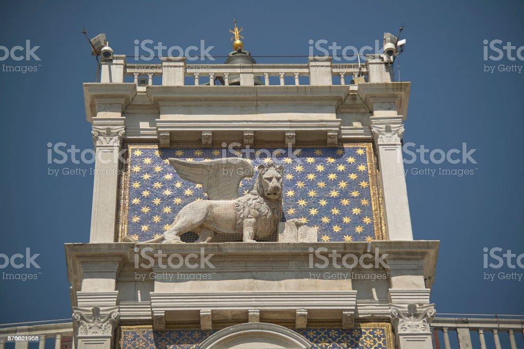 Venetian winged lion stock photo