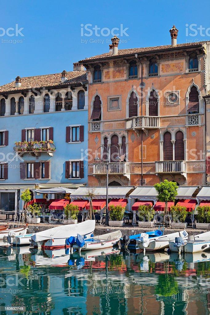 Venetian-style palaces, Desenzano del Grada stock photo