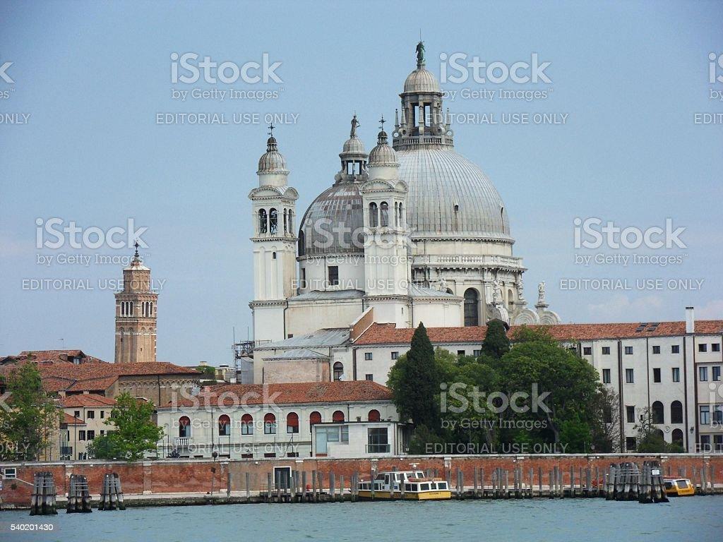 Venezia - Basilica di Santa Maria della Salute dalla Giudecca stock photo