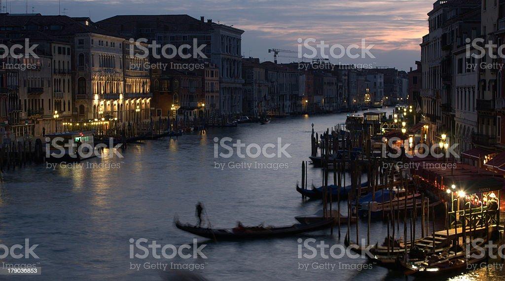 Venezia di notte royalty-free stock photo