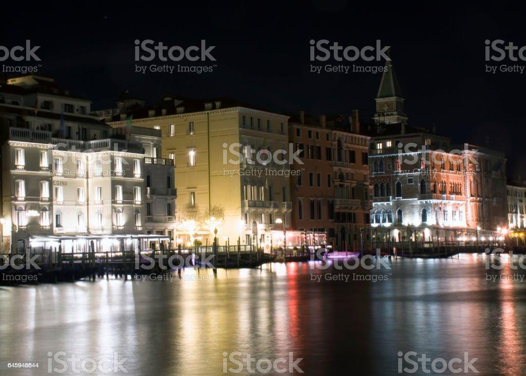 Venezia di notte stock photo