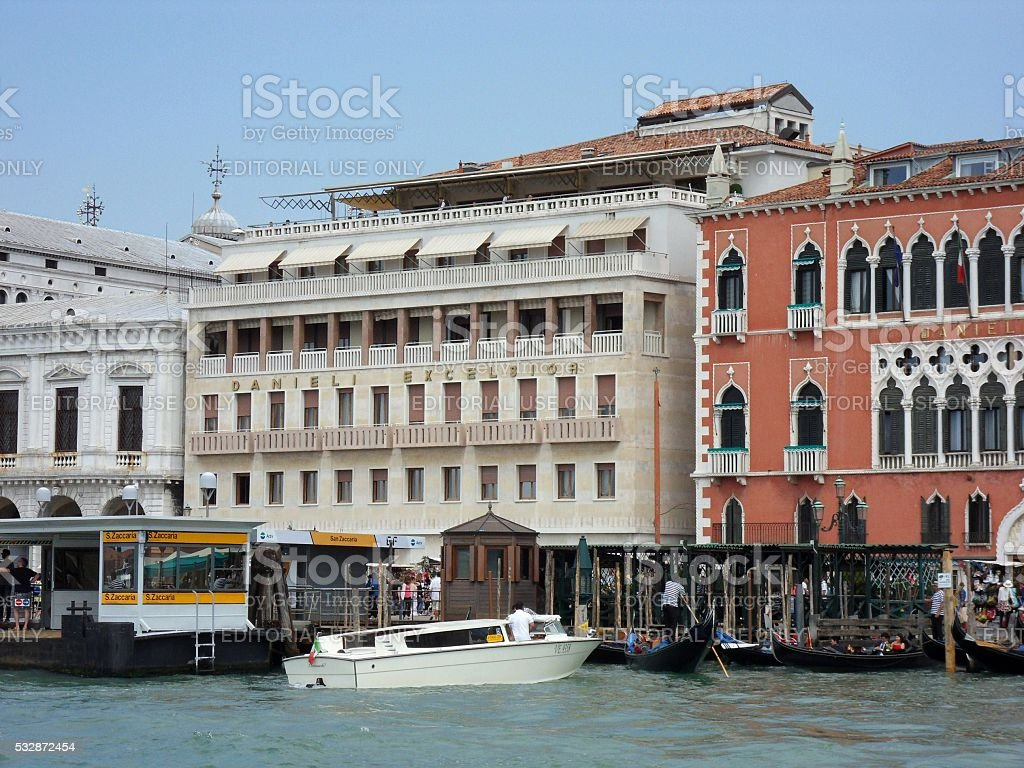 Venezia Hotel Danieli Excelsior Stock Photo Download Image