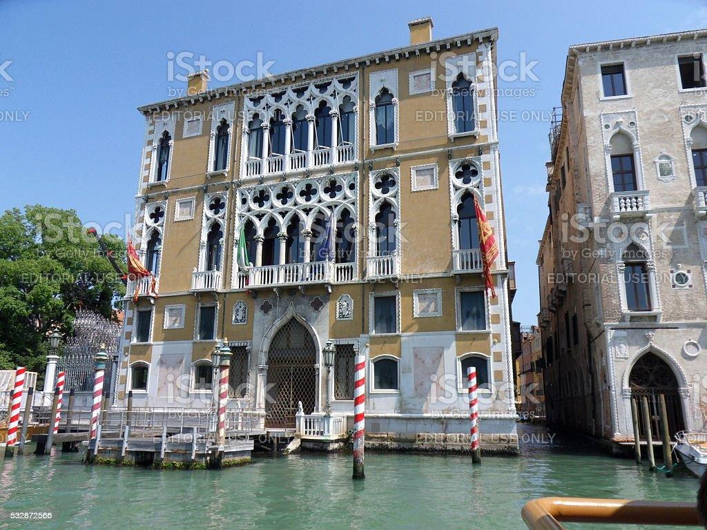 Venezia - Palazzo Cavalli Franchetti stock photo