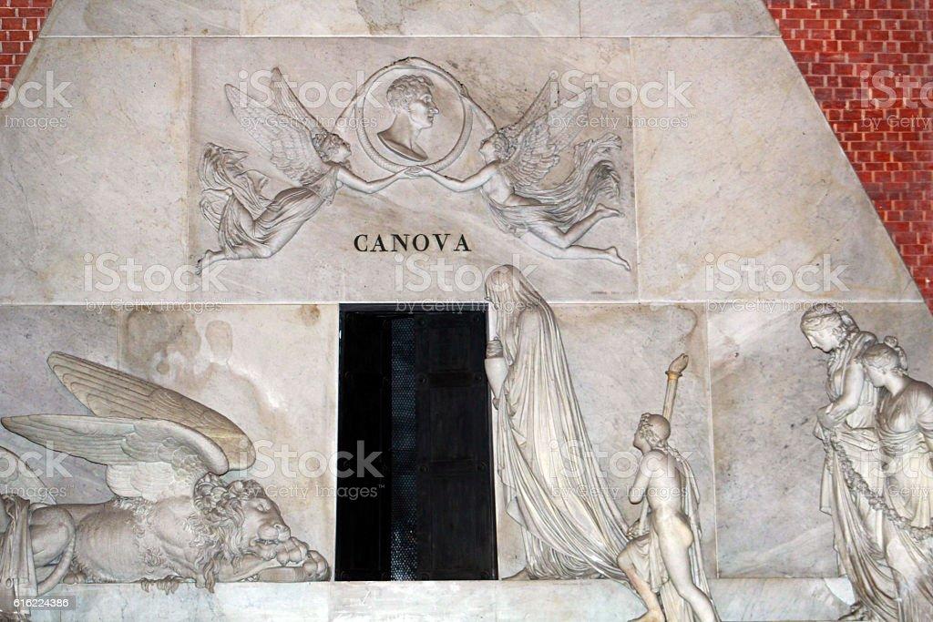 venezia tomba di canova stock photo