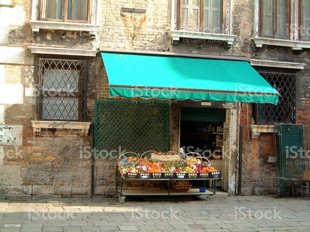 Venezian fruit shop stock photo