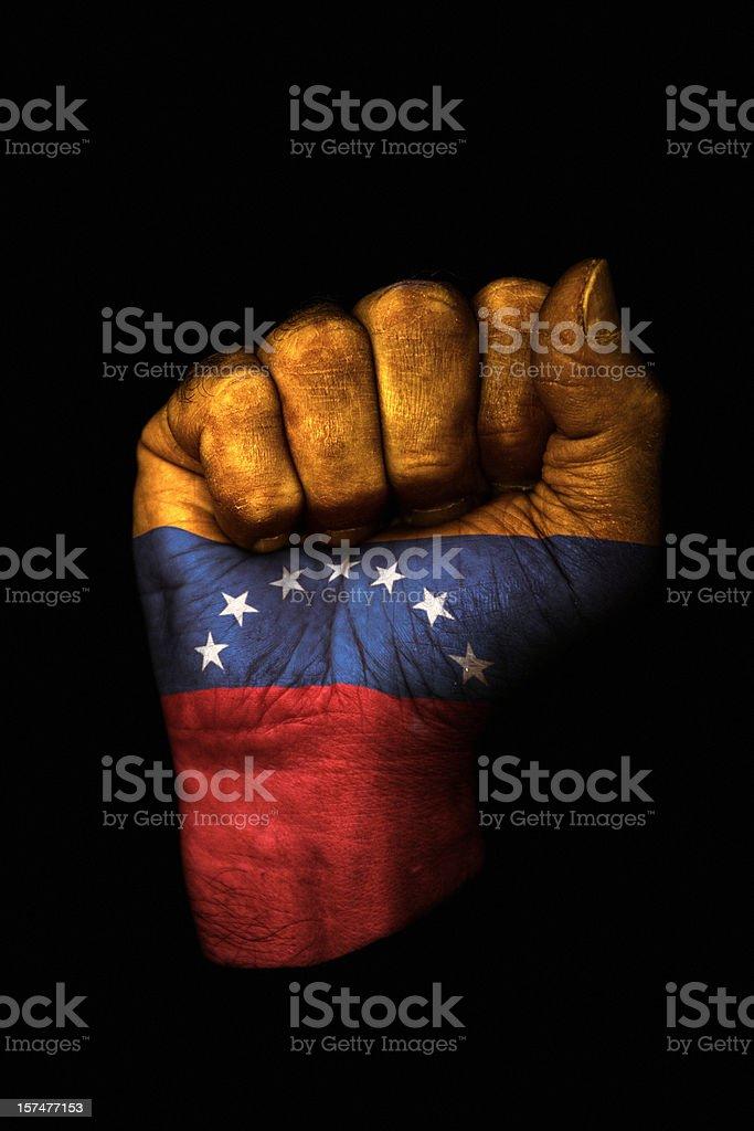 Venezuela puño - foto de stock