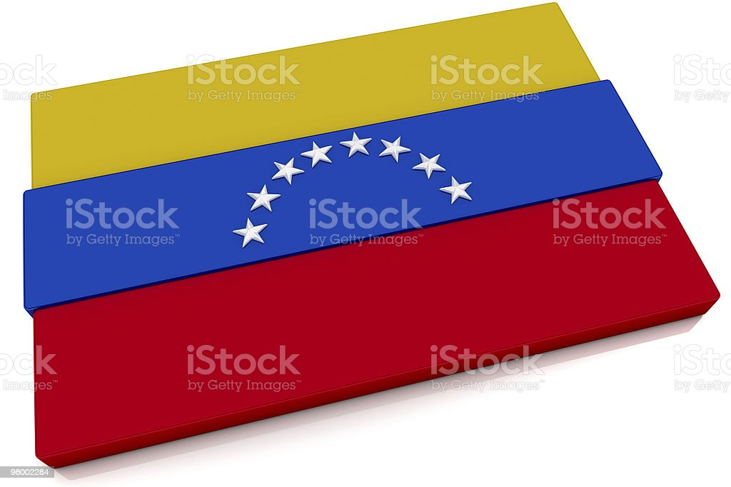 3D Venezuela Flag Button royalty-free stock photo