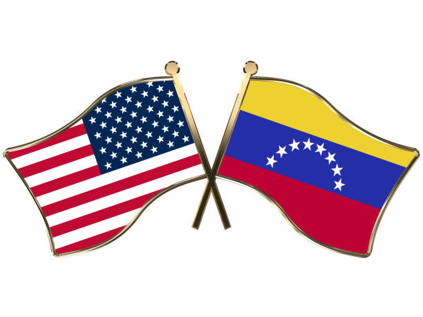 usa venezuela flag insignia election crisis sanctions opposition politics - venezuelan flag stock photos and pictures