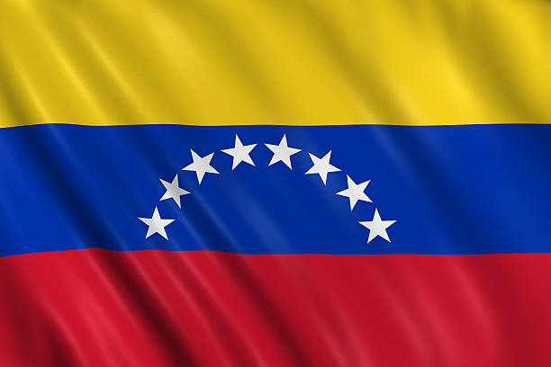 venezuela flag - venezuelan flag stock photos and pictures
