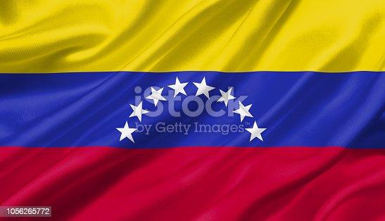 1056280906 istock photo Venezuela flag waving with the wind, 3D illustration. 1056265772