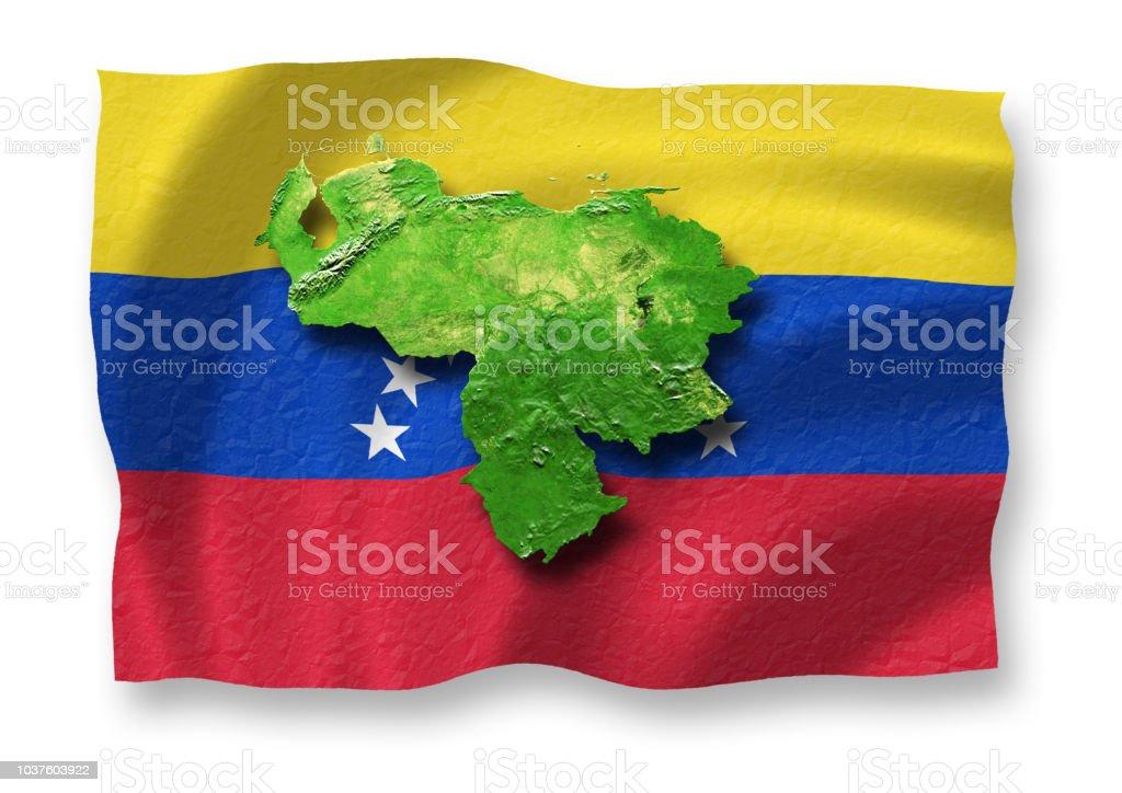 Venezuela schwebt über seine Flagge – Foto