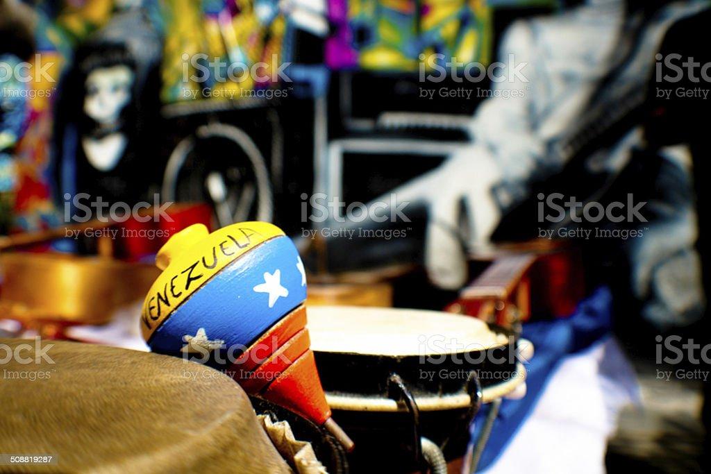 Venezuela in a 'trompo' stock photo