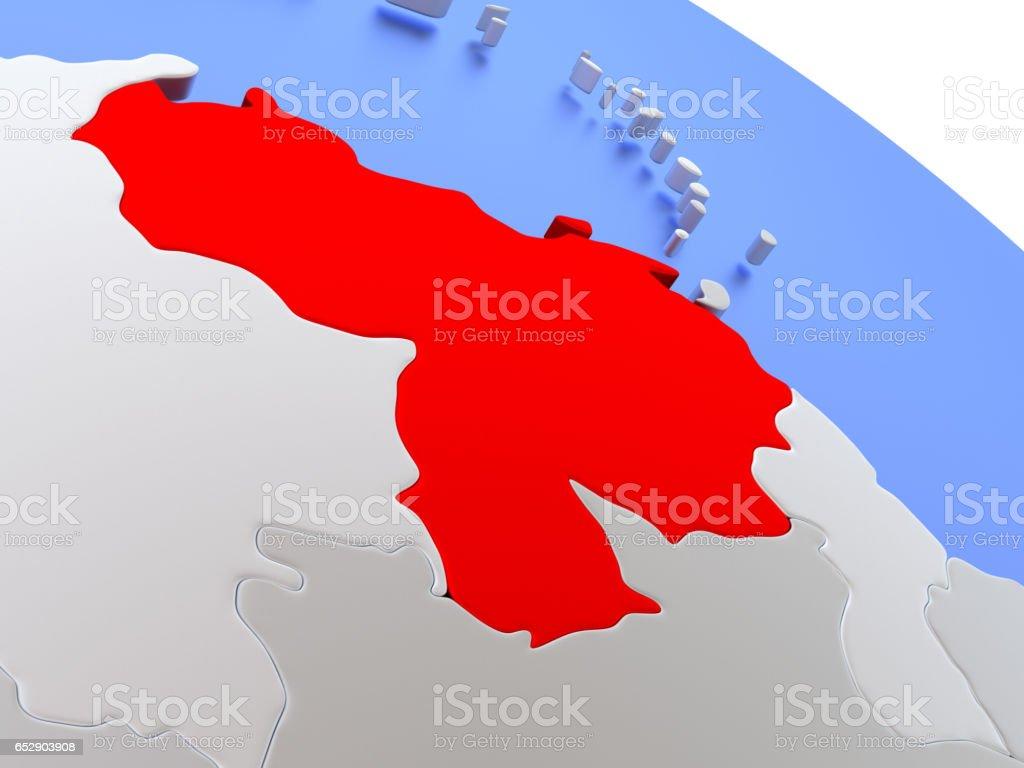 Venezuela On World Map Stockfoto und mehr Bilder von Digital ...