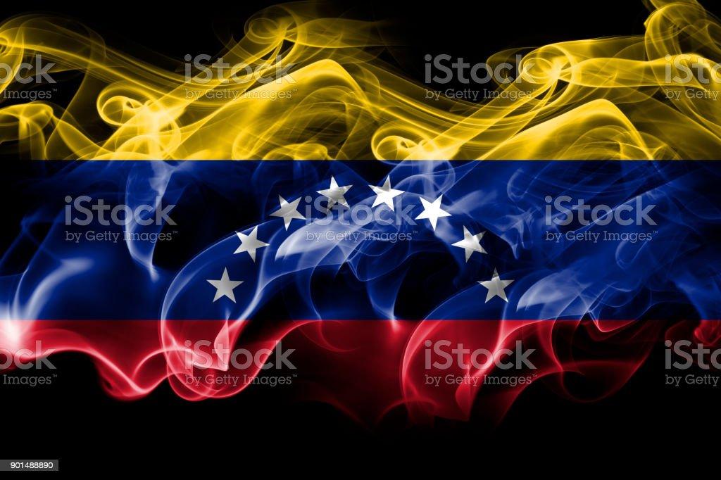 Bandera de humo Venezuela - foto de stock