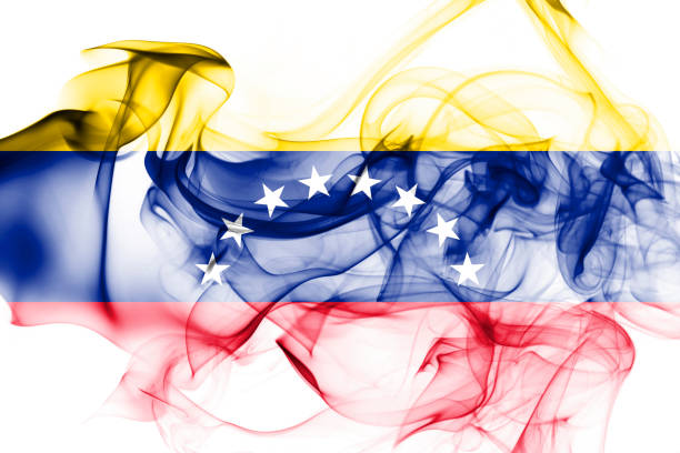 venezuela smoke flag - venezuelan flag stock photos and pictures