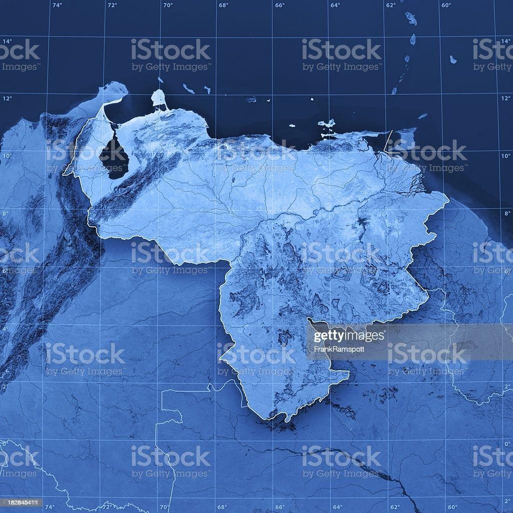 Venezuela Topographic Map royalty-free stock photo