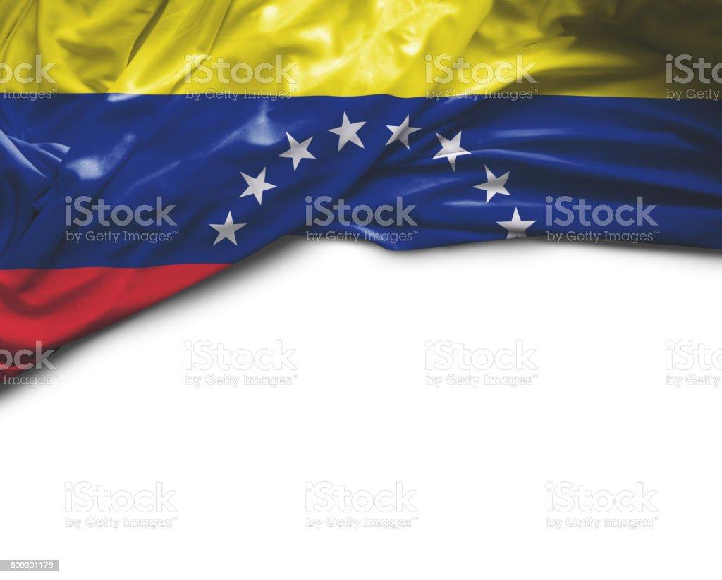 Agitando bandera de Venezuela - foto de stock