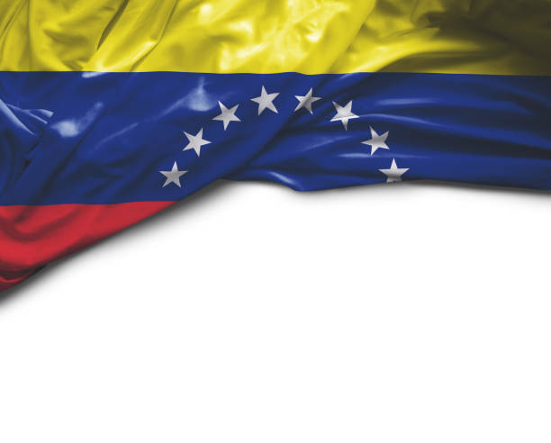 venezuela waving flag - venezuelan flag stock photos and pictures