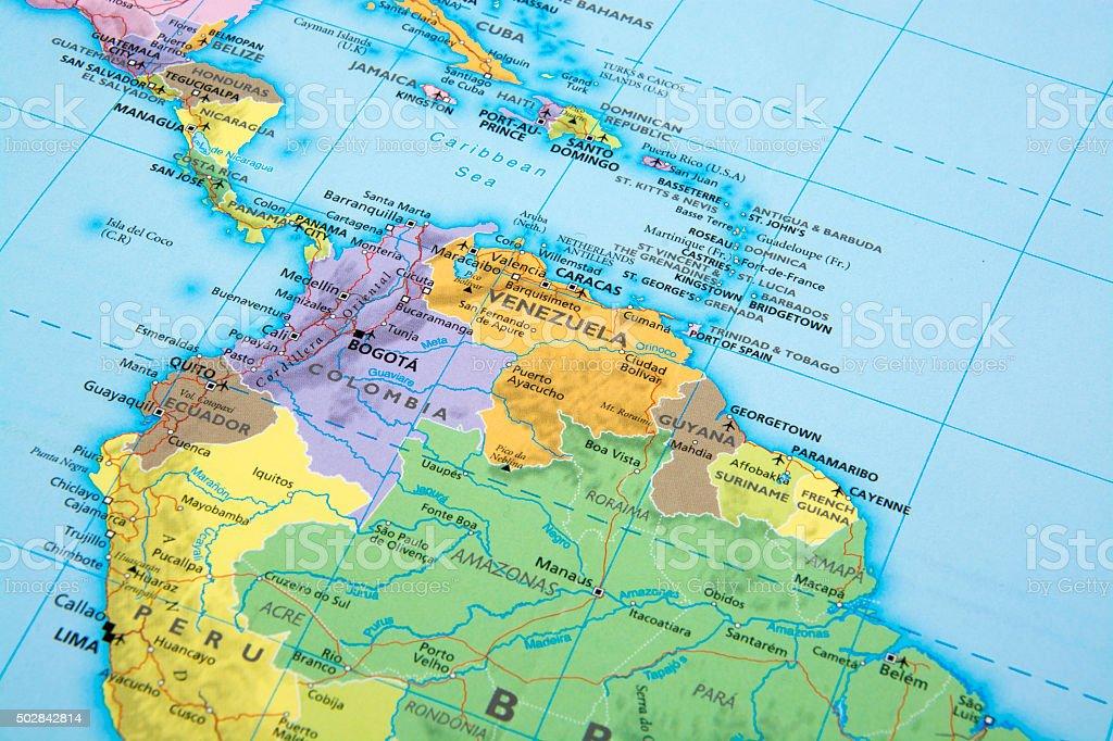 Venezuela, Ecuador, Colombia, y Perú - foto de stock