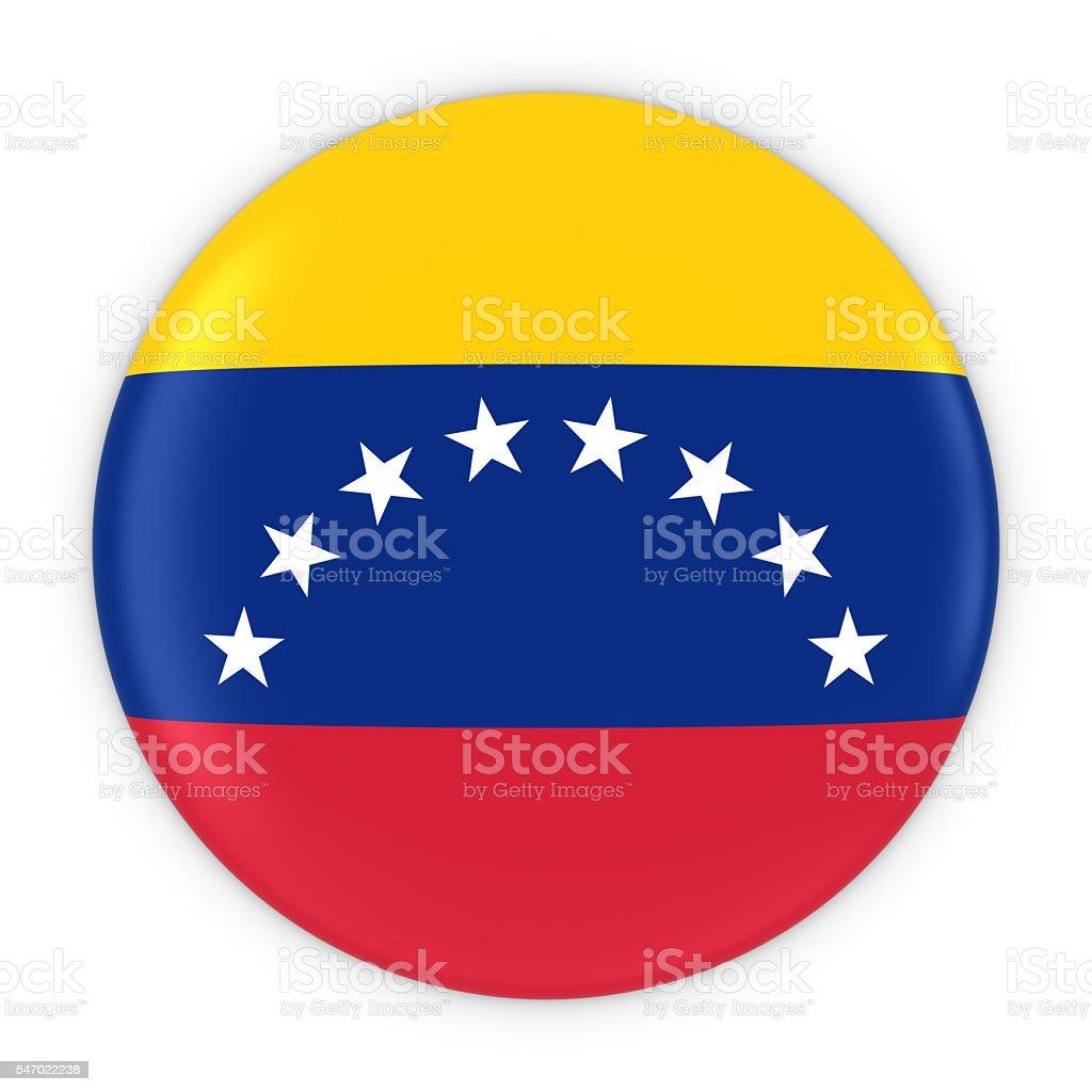 Venezuelan Flag Button - Flag of Venezuela Badge 3D Illustration - foto de stock